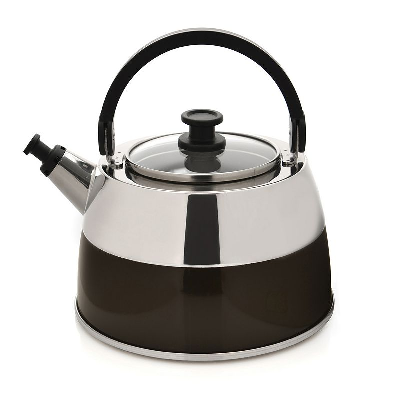 BergHOFF 3-qt. Stainless Steel Brown Whistling Tea Kettle