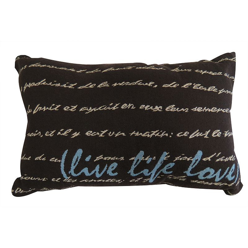 Love Life Throw Pillow : Park B. Smith Life Love Throw Pillow DealTrend