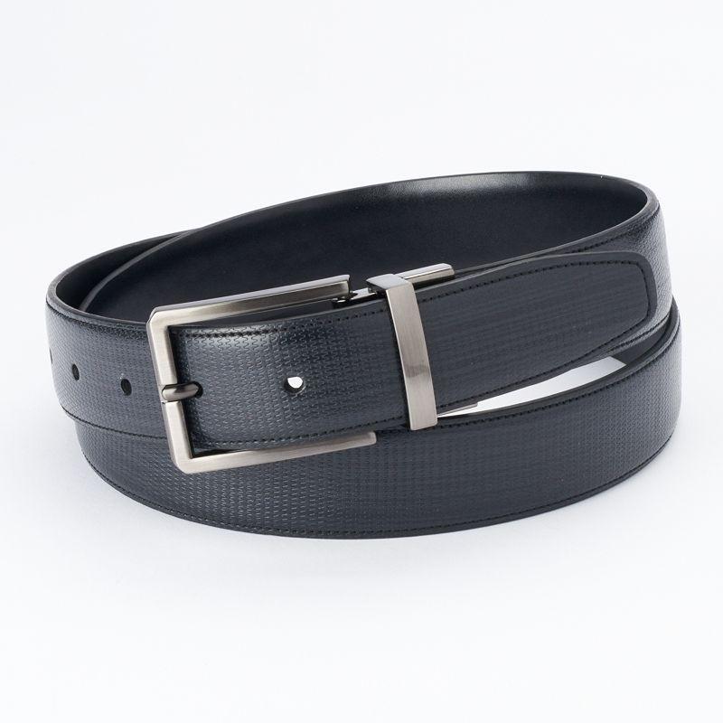 Apt. 9® Textured Black Reversible Belt - Men