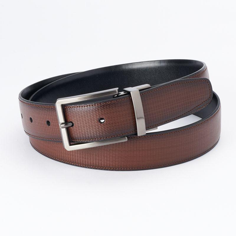 Men's Apt. 9 Brown & Black Textured Reversible Belt