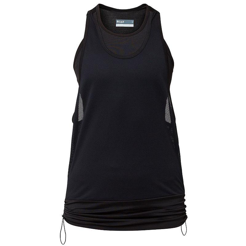 Lija Score Track Double Layer Racerback Running Tank Women's X Black | Top and Clothing