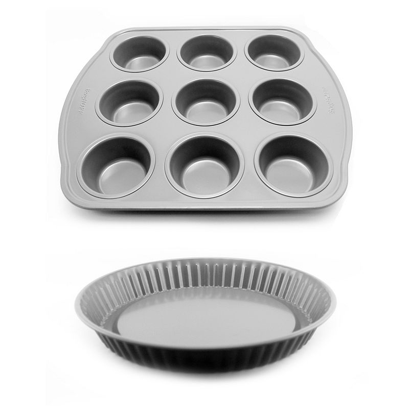 BergHOFF Earthchef Nonstick 9-Cup Muffin Pan & Pie Pan Set
