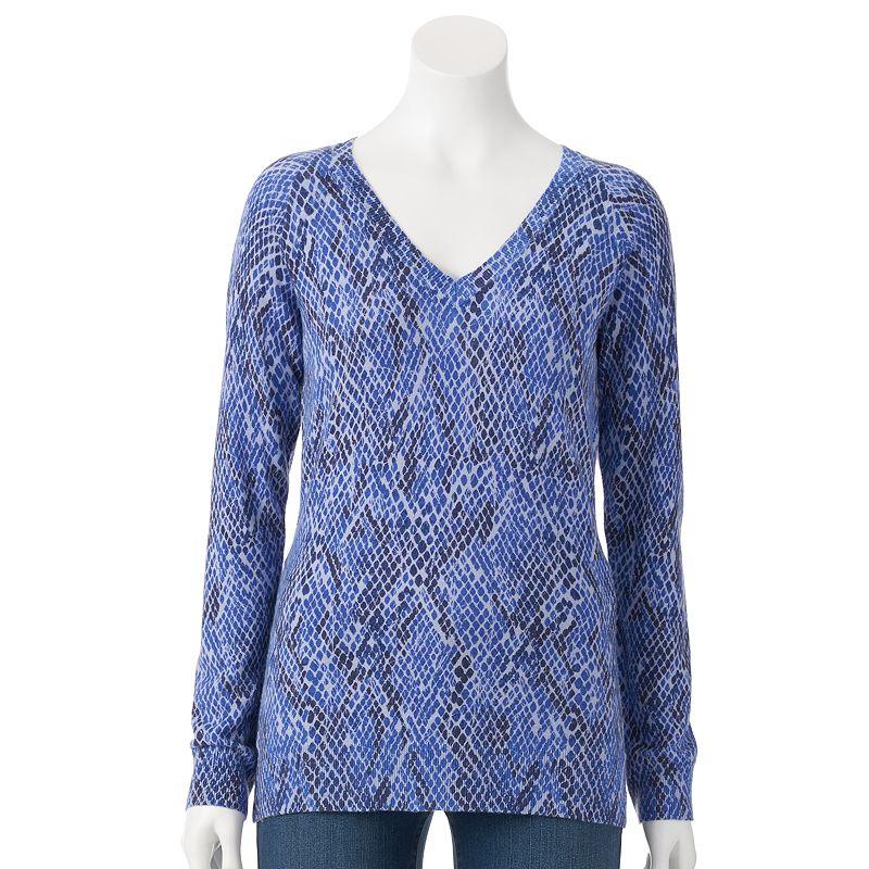Women's Apt. 9® Cashmere-Blend V-Neck Sweater