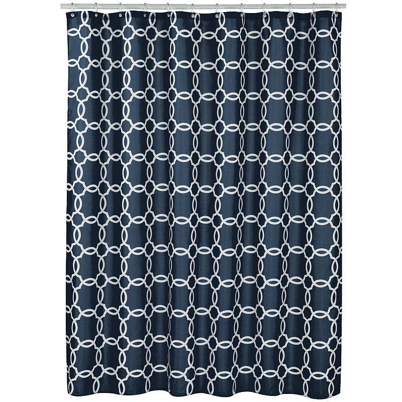 Spencer Linked Tile Fabric Shower Curtain