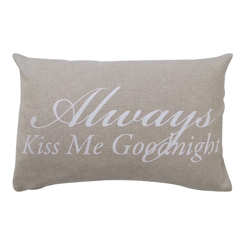 Park B. Smith ''Always Kiss Me Goodnight'' Throw Pillow