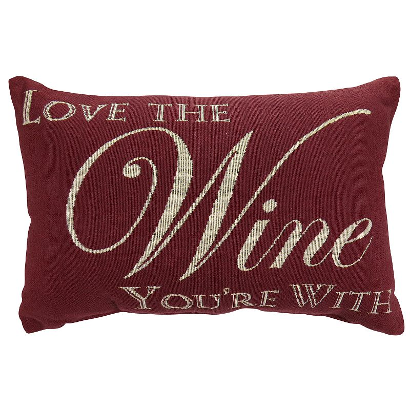 Park B. Smith ''Love Wine'' Throw Pillow