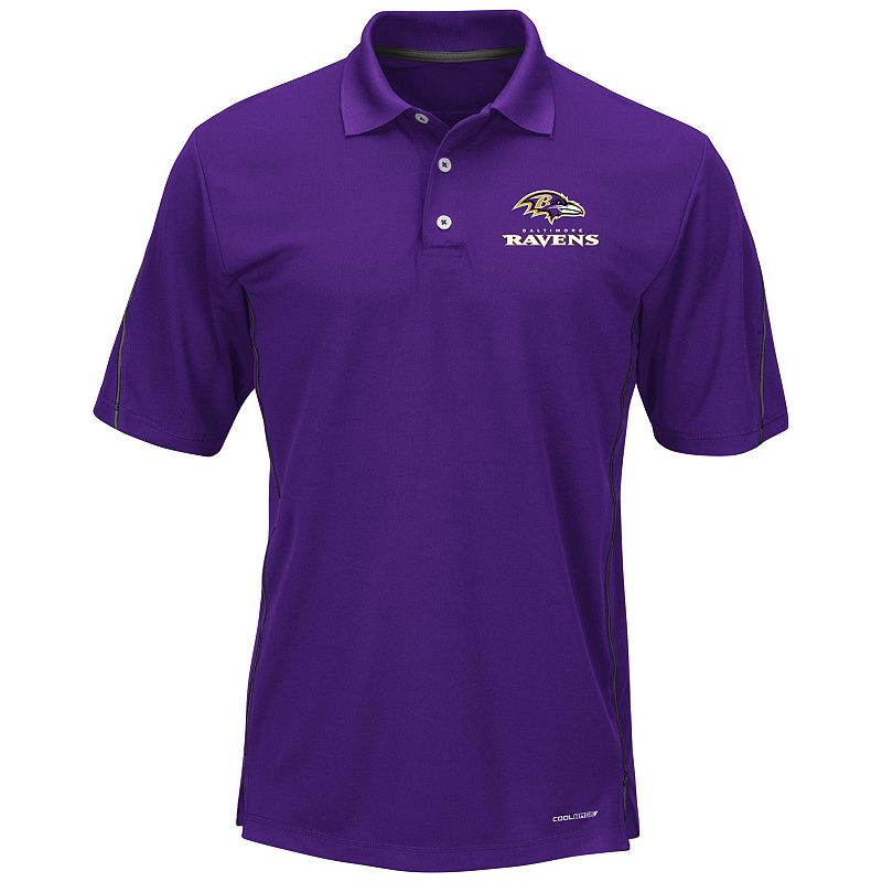 Big & Tall Majestic Baltimore Ravens Field Classic Synthetic Polo
