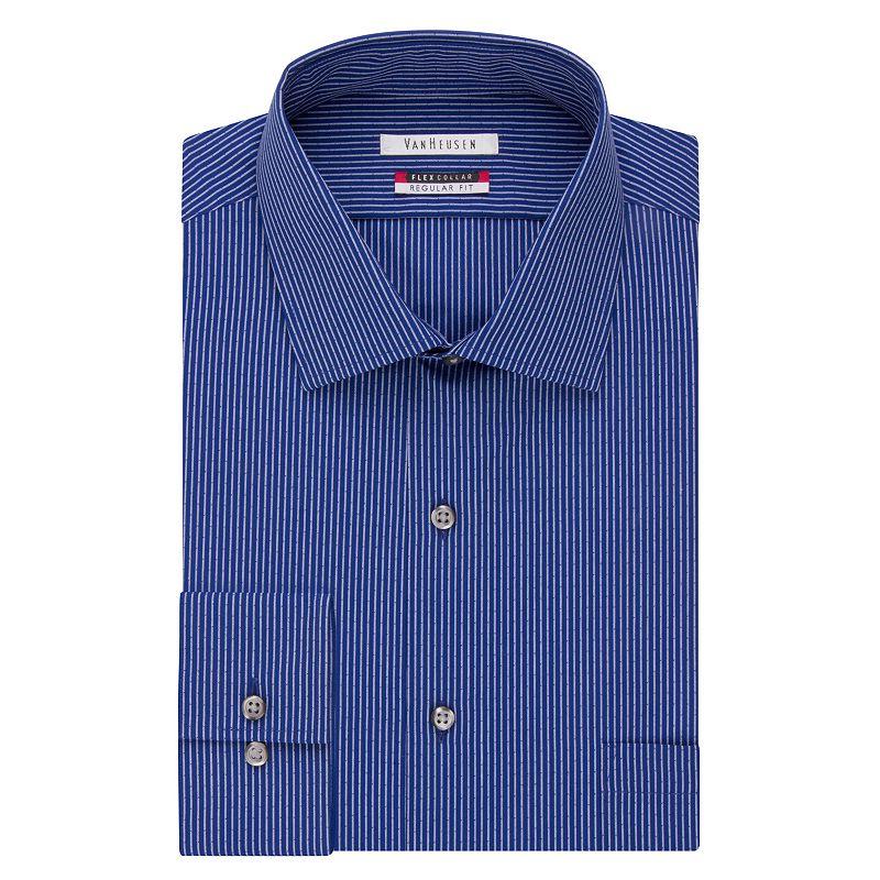 Men 39 s van heusen flex collar classic fit dress shirt for Van heusen shirts flex collar