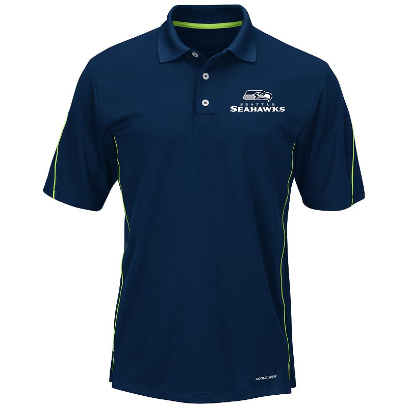 Big & Tall Majestic Seattle Seahawks Field Classic Synthetic Polo