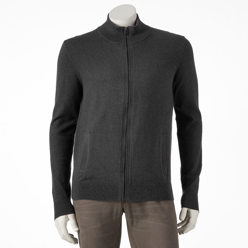 Big & Tall Marc Anthony Cashmere-Blend Zip-Up Cardigan