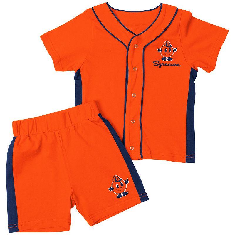Baby Syracuse Orange Homer Tee & Shorts Set