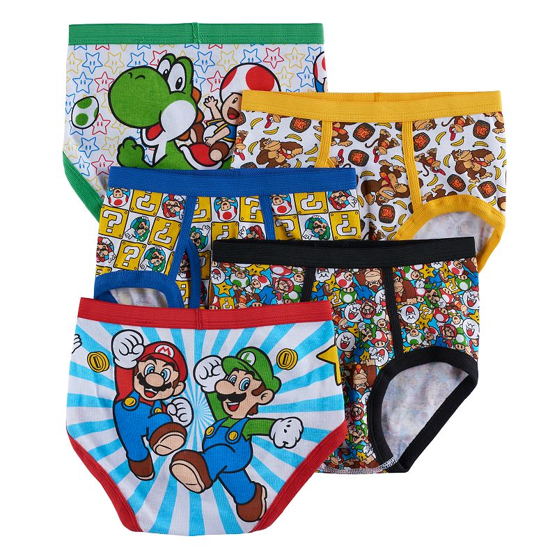 Boys 8-20 Super Mario Bros. 5-Pack Briefs