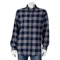Men's Croft & Barrow Plaid Flannel Casual Button-Down Shirt