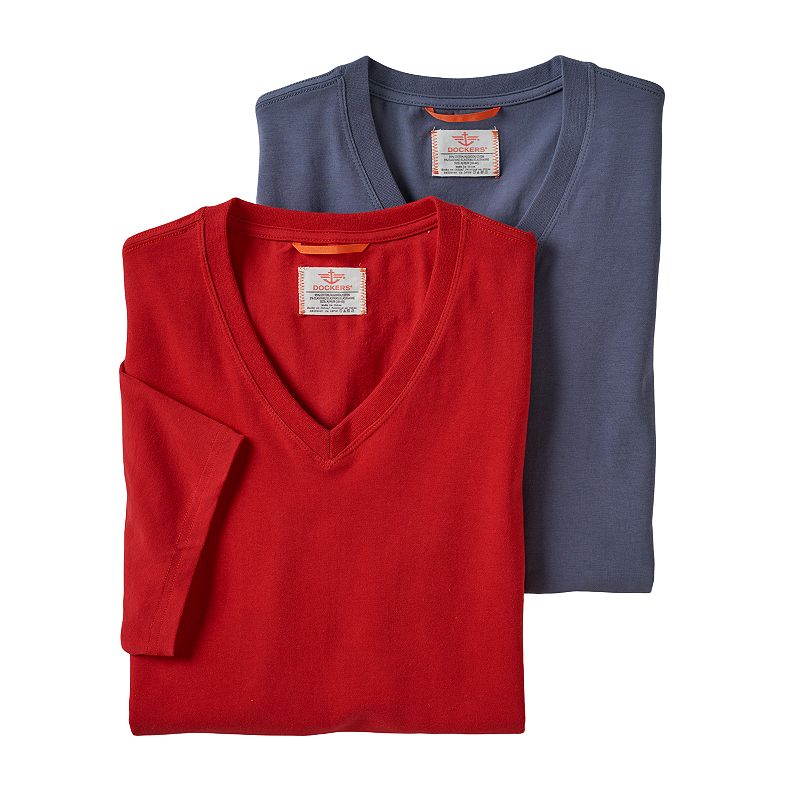 Men's Dockers® 2-pack Stretch V-Neck Tees