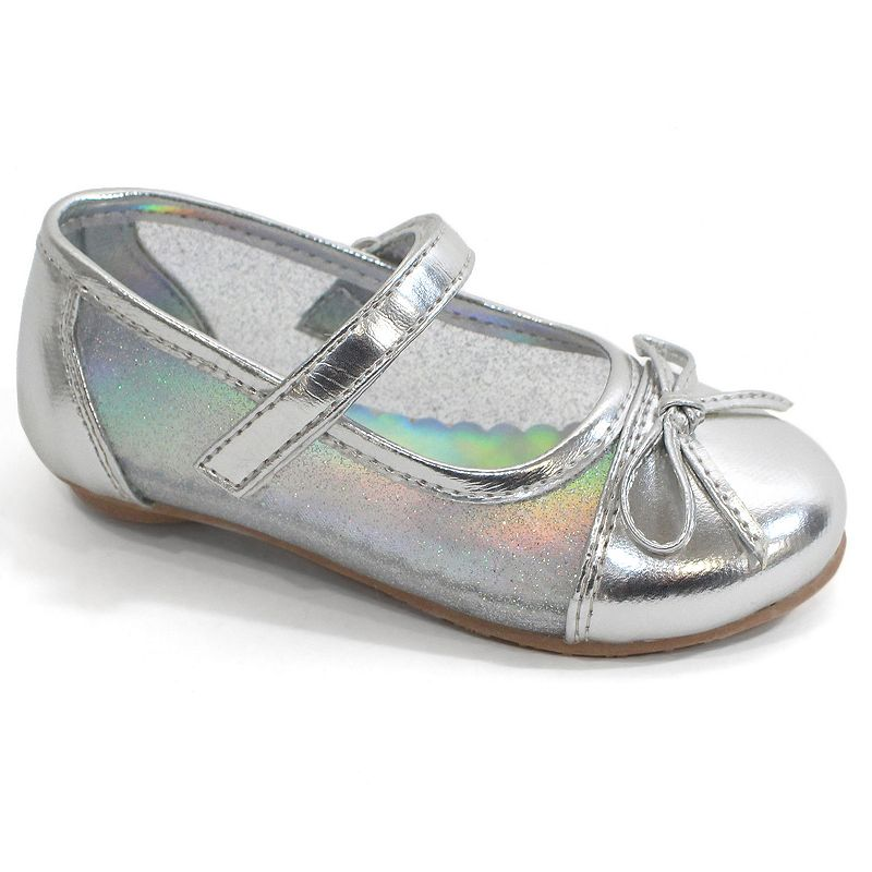 Laura Ashley Girls' Glitter Ballet Flats