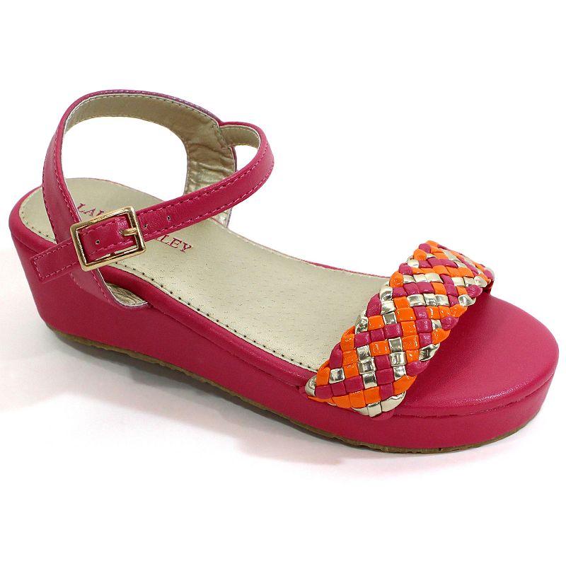 Laura Ashley Girls' Wedge Dress Sandals