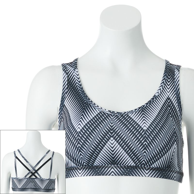 Tek Gear® Bra: Strappy Crisscross Low-Impact Sports Bra