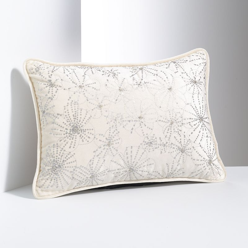 Simply Vera Vera Wang Embroidered Floral Velvet Throw Pillow