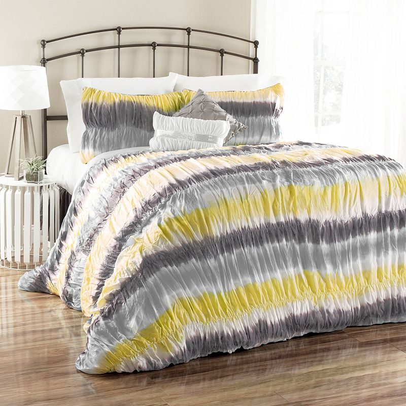 Lush Decor Bloomfield Tie-Dye 5-pc. Comforter Set