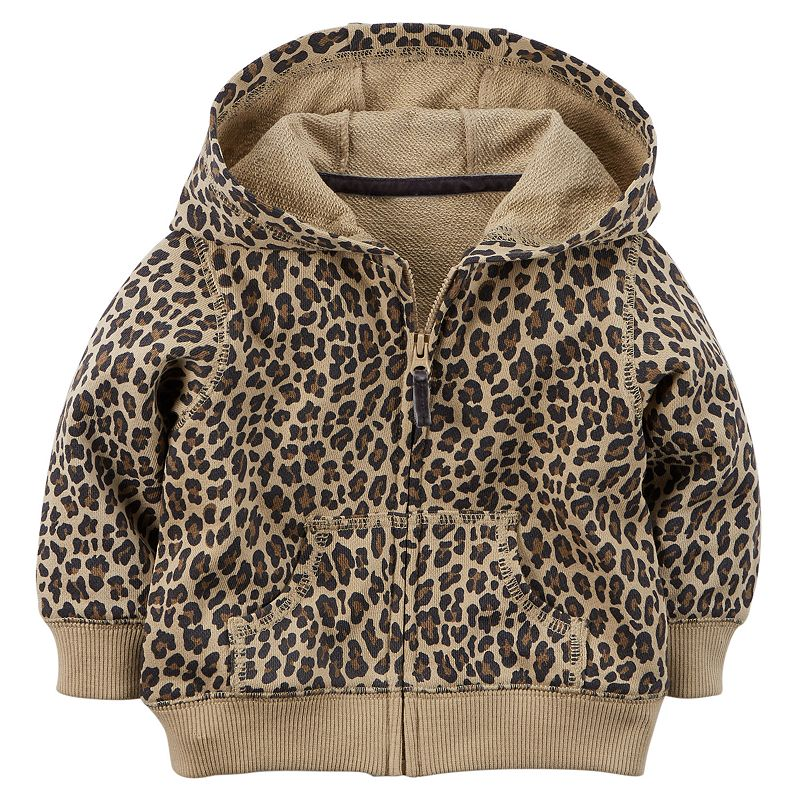 Carter's Cheeta Print French Terry Hoodie - Baby Girl