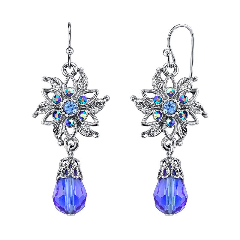 1928 Bead Flower Drop Earrings