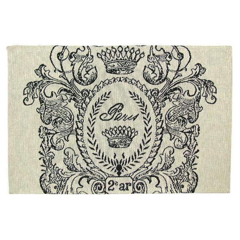 Vintage House Paris Postage Tapestry 4-pc. Placemat Set