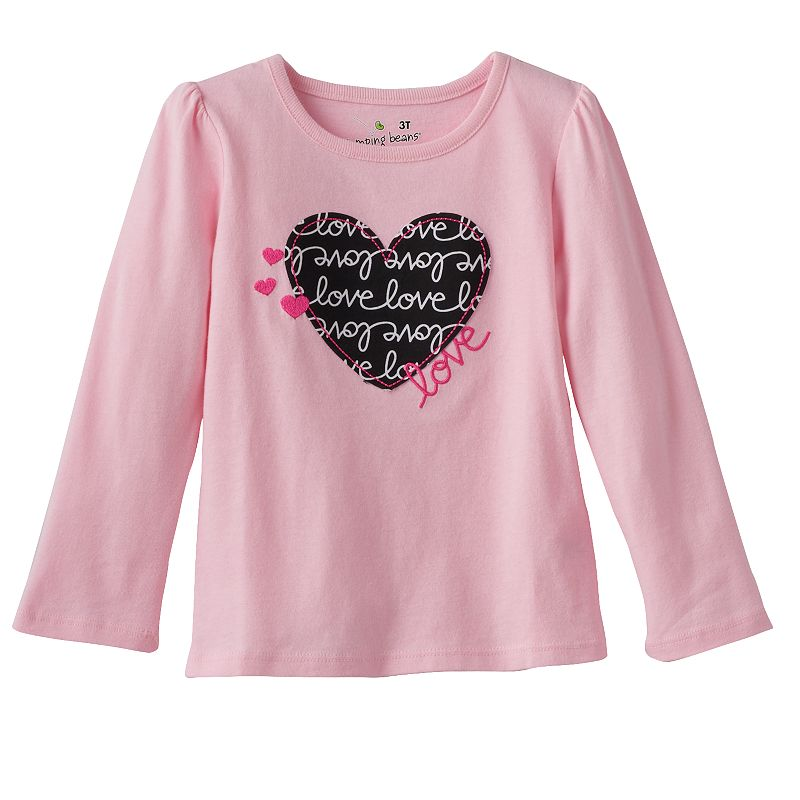 Toddler Girl Jumping Beans® Embroidered Applique Tee