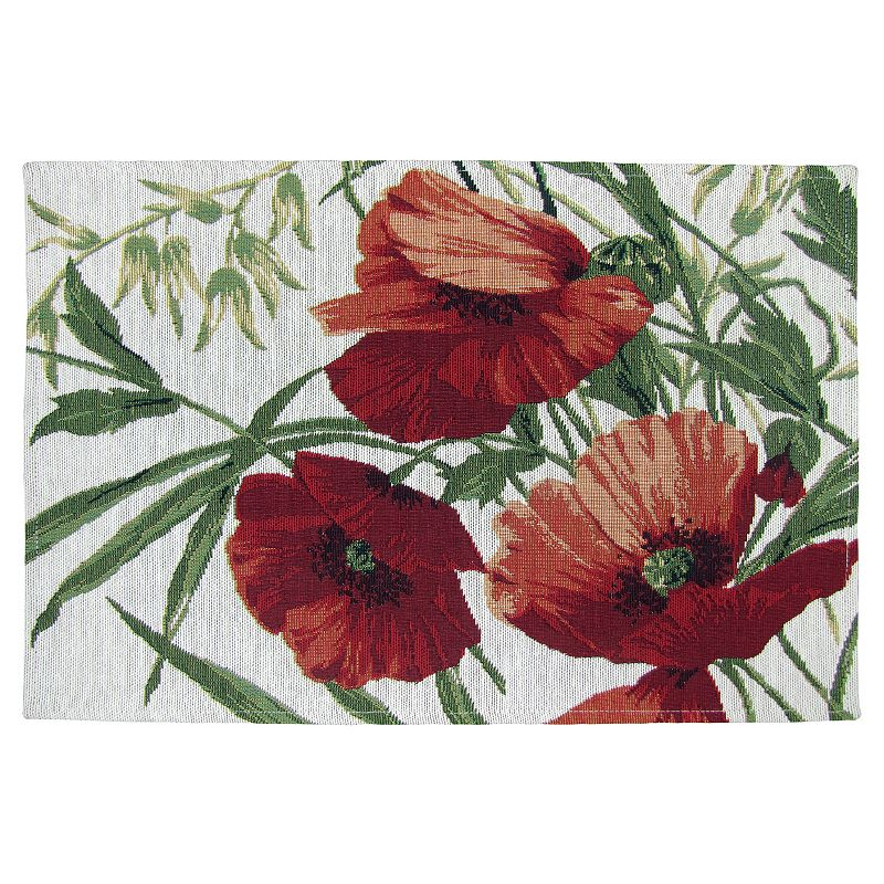 Park B. Smith Poppies Tapestry 4-pc. Placemat Set