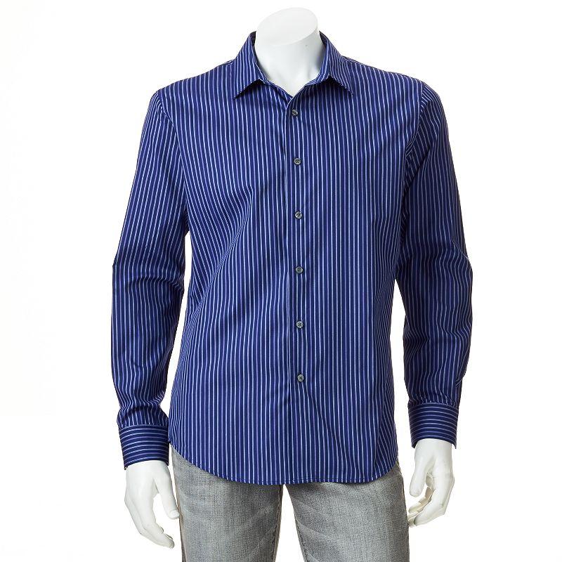 Men's Apt. 9® Modern-Fit Work Week Dobby-Striped Casual Button-Down Shirt - Men
