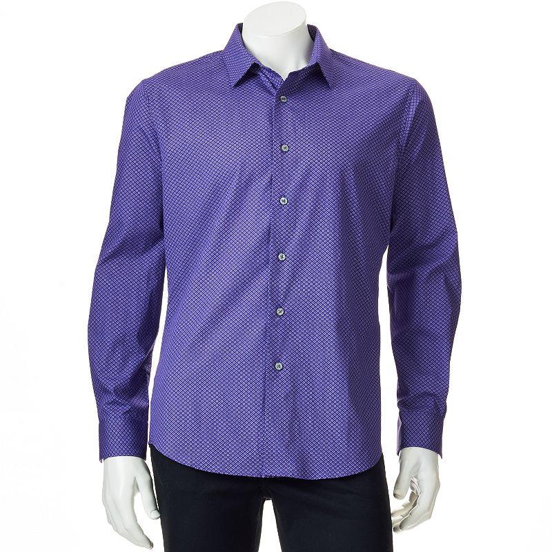 Men's Apt. 9® Modern-Fit Work Week Geometric Casual Button-Down Shirt