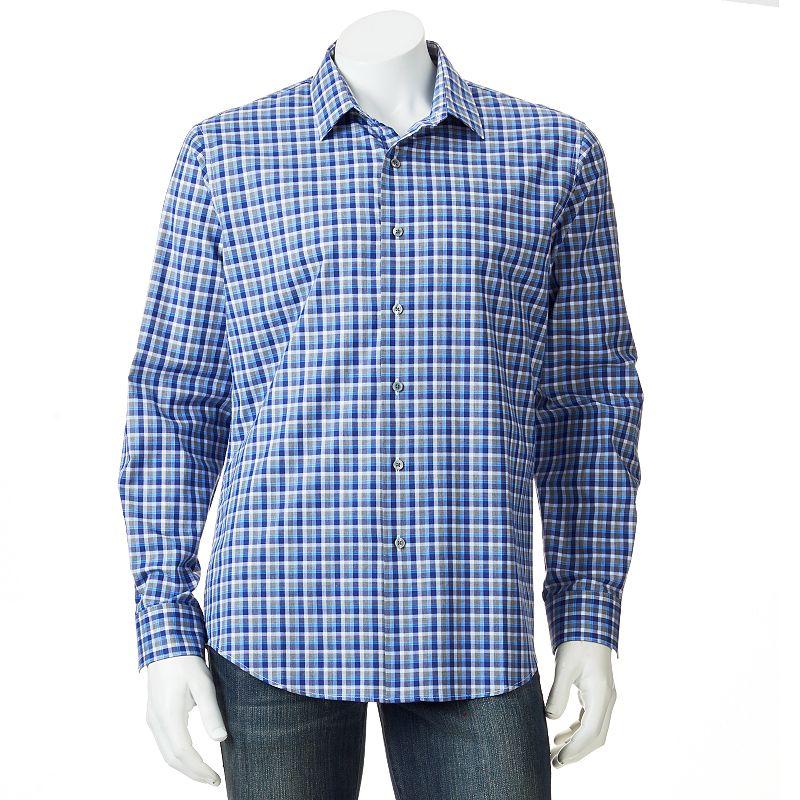 Men's Apt. 9® Modern-Fit Work Week Plaid Casual Button-Down Shirt