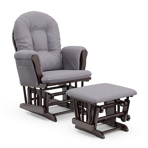 Stork craft hoop custom glider chair and ottoman set for Stork craft hoop glider and ottoman set