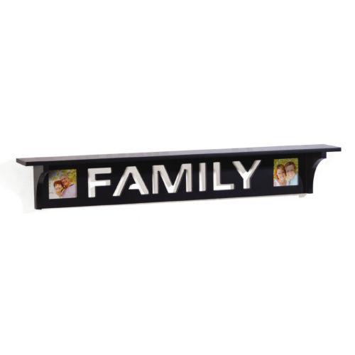 Melannco 2-Opening ''Family'' Wall Shelf