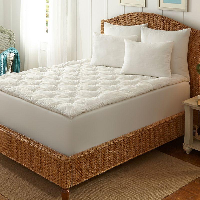 Dream Cloud 1 1/2-in. Boardwalk Stripe Tufted Down-Alternative Fiber Bed