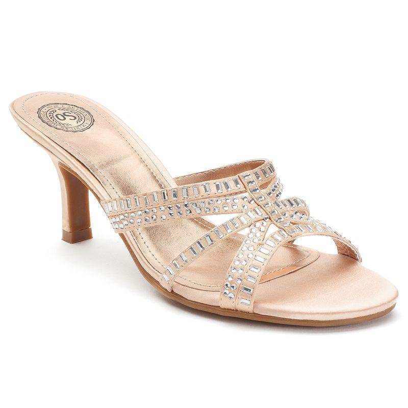 SO® Women's High Heel Slide Dress Sandals
