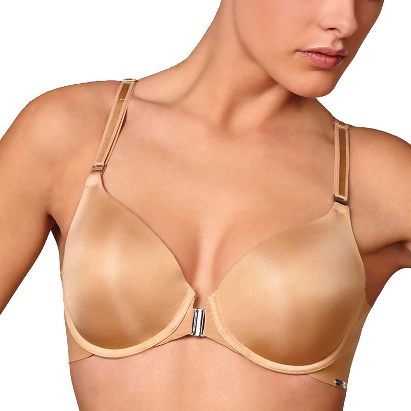 Montelle Intimates Bra: Pure Plus Back Smoothing Front-Close Full-Figure Bra 9028
