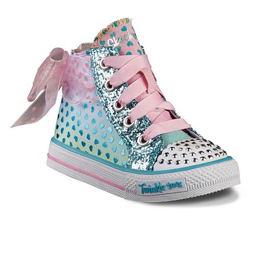 pics photos skechers twinkle toes pink sequin high top. Black Bedroom Furniture Sets. Home Design Ideas