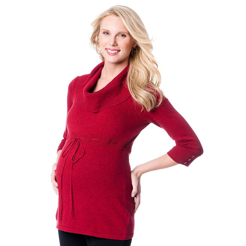 Maternity Oh Baby by Motherhood™ Cowlneck Tunic Sweater
