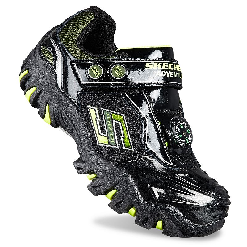 Skechers Hot Lights Adventurer Boys Light Up Trail Running Shoes