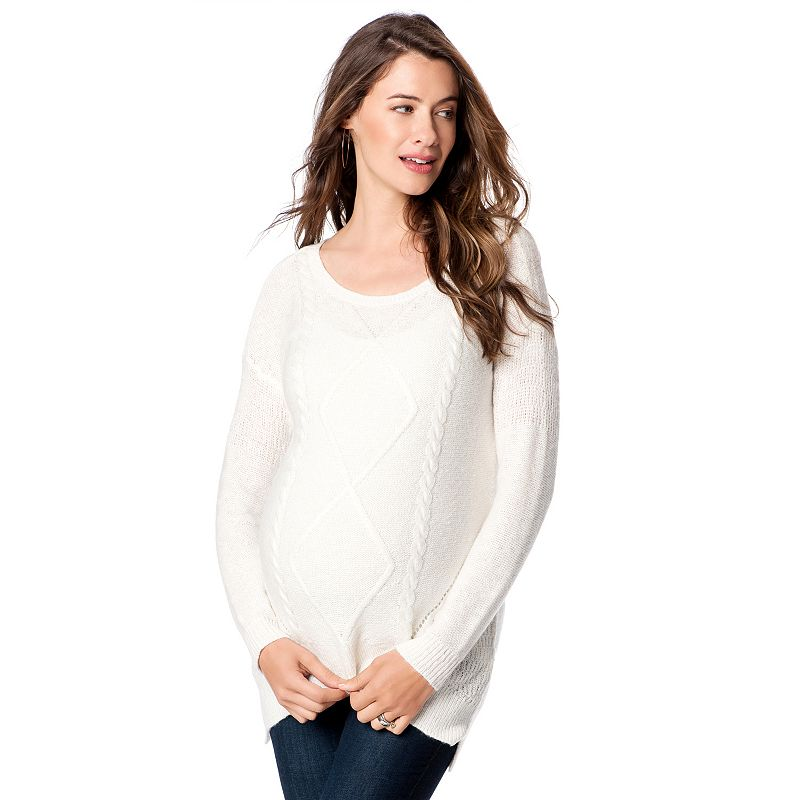 Maternity Oh Baby by Motherhood™ Cable-Knit Sweater