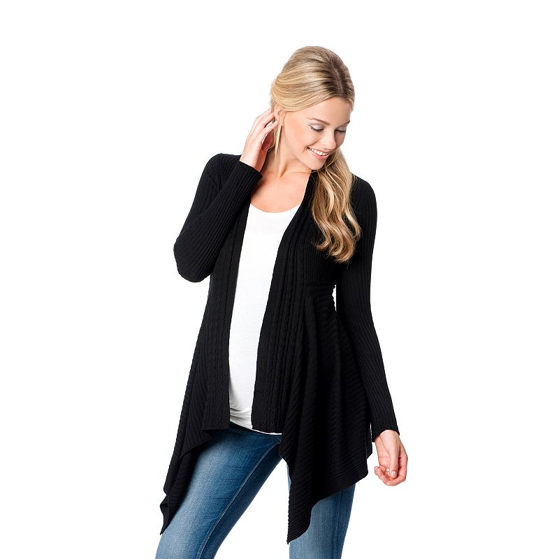 Maternity Oh Baby by Motherhood™ Ribbed Flyaway Cardigan