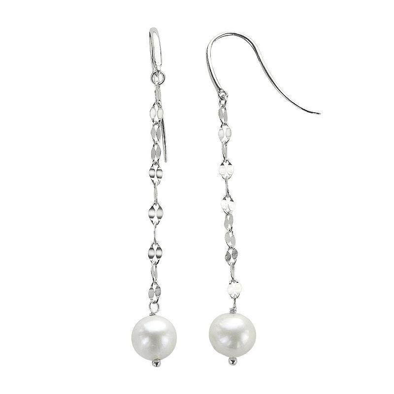 PearLustre by Imperial Freshwater Cultured Pearl Sterling Silver Linear Drop Earrings