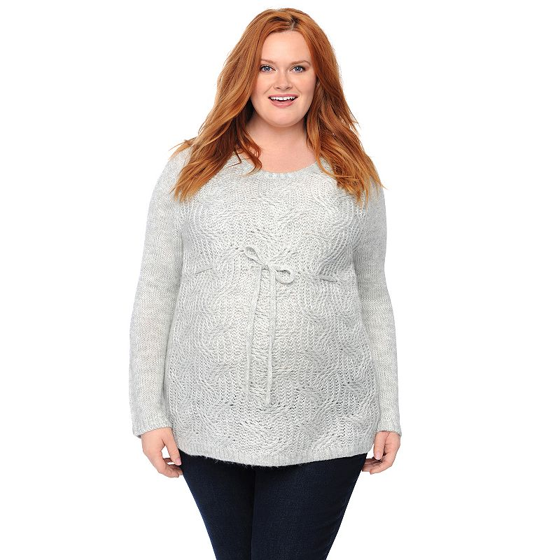 Plus Size Maternity Oh Baby by Motherhood™ Scoopneck Sweater