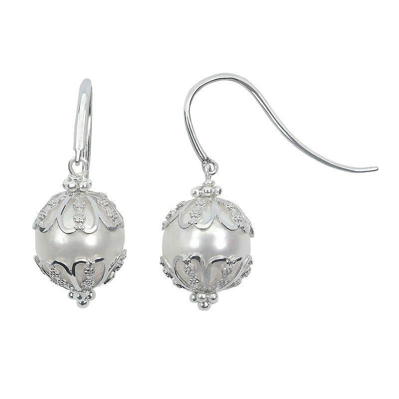 PearLustre by Imperial Freshwater Cultured Pearl Sterling Silver Drop Earrings