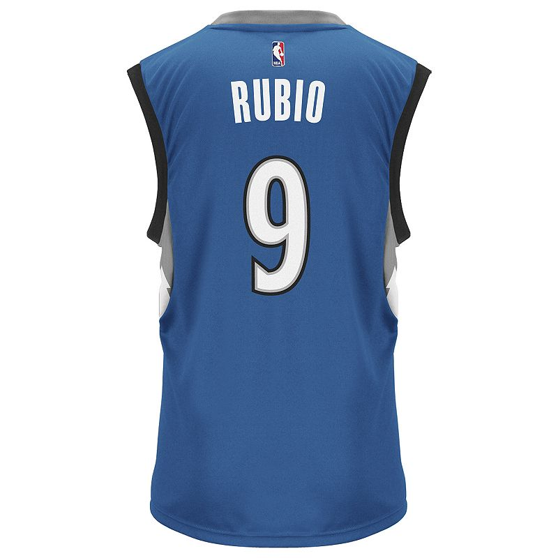 Men's adidas Minnesota Timberwolves Ricky Rubio Replica Jersey