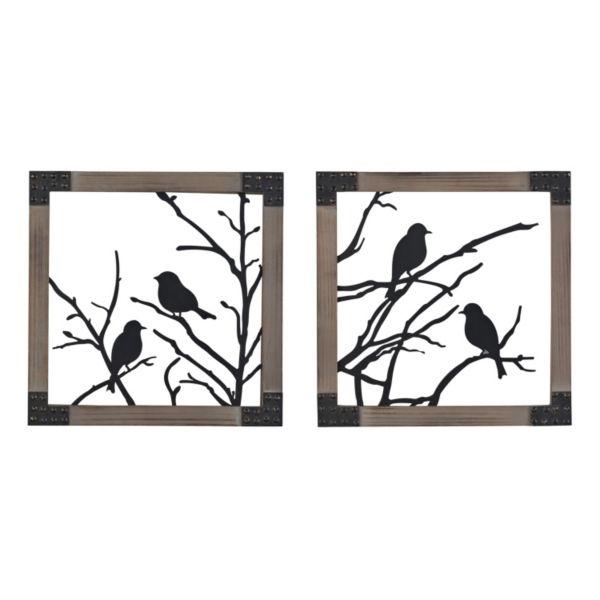 Sterling 2-piece ''Ollerton'' Perched Birds Framed Wall Art Set