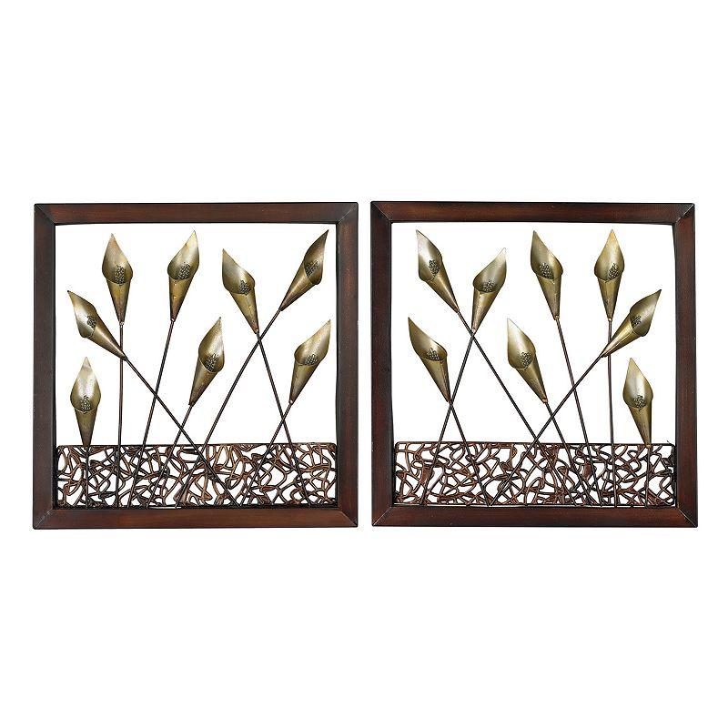 Sterling 2-piece ''Delph'' Tulips Framed Metal Wall Art Set