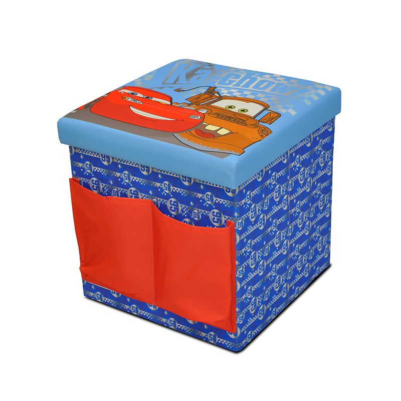Disney 39 s cars sit store folding ottoman blue for Ottoman to sit on