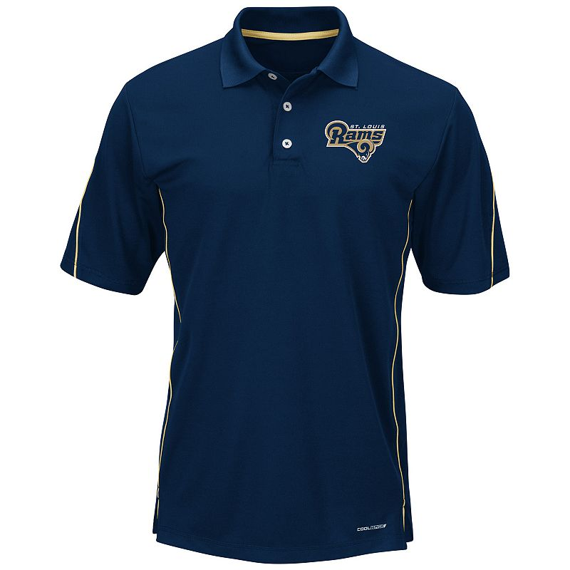 Men's Majestic St. Louis Rams Field Classic Synthetic Polo