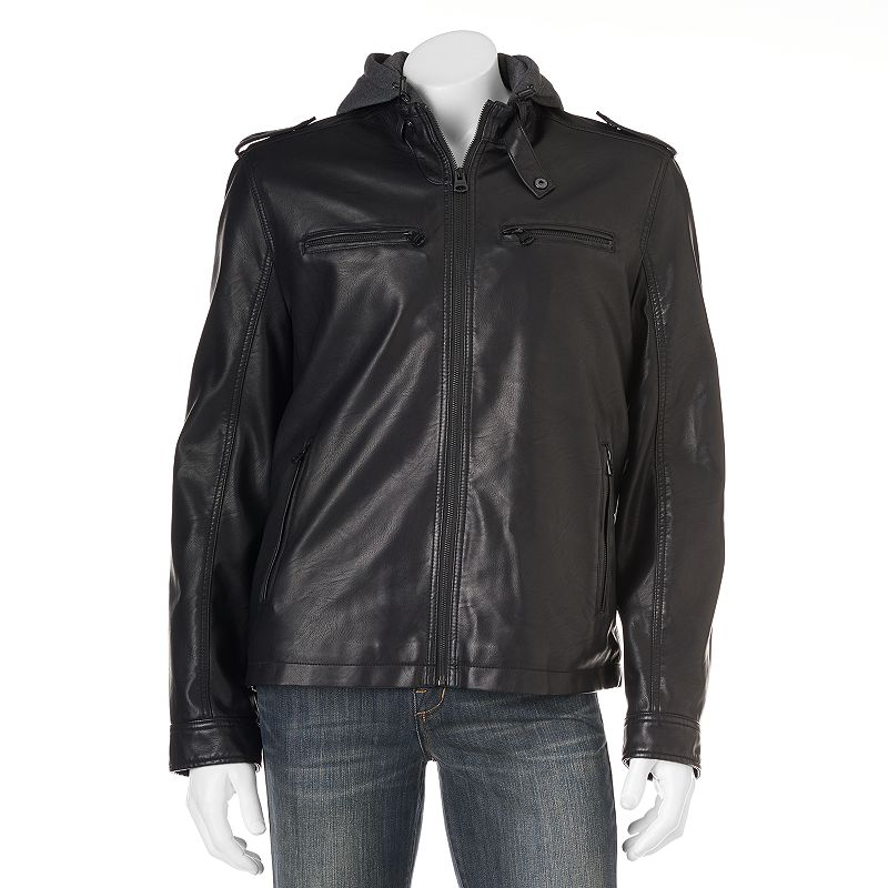 Men's Levi's Open-Bottom Fleece-Lined Moto Jacket